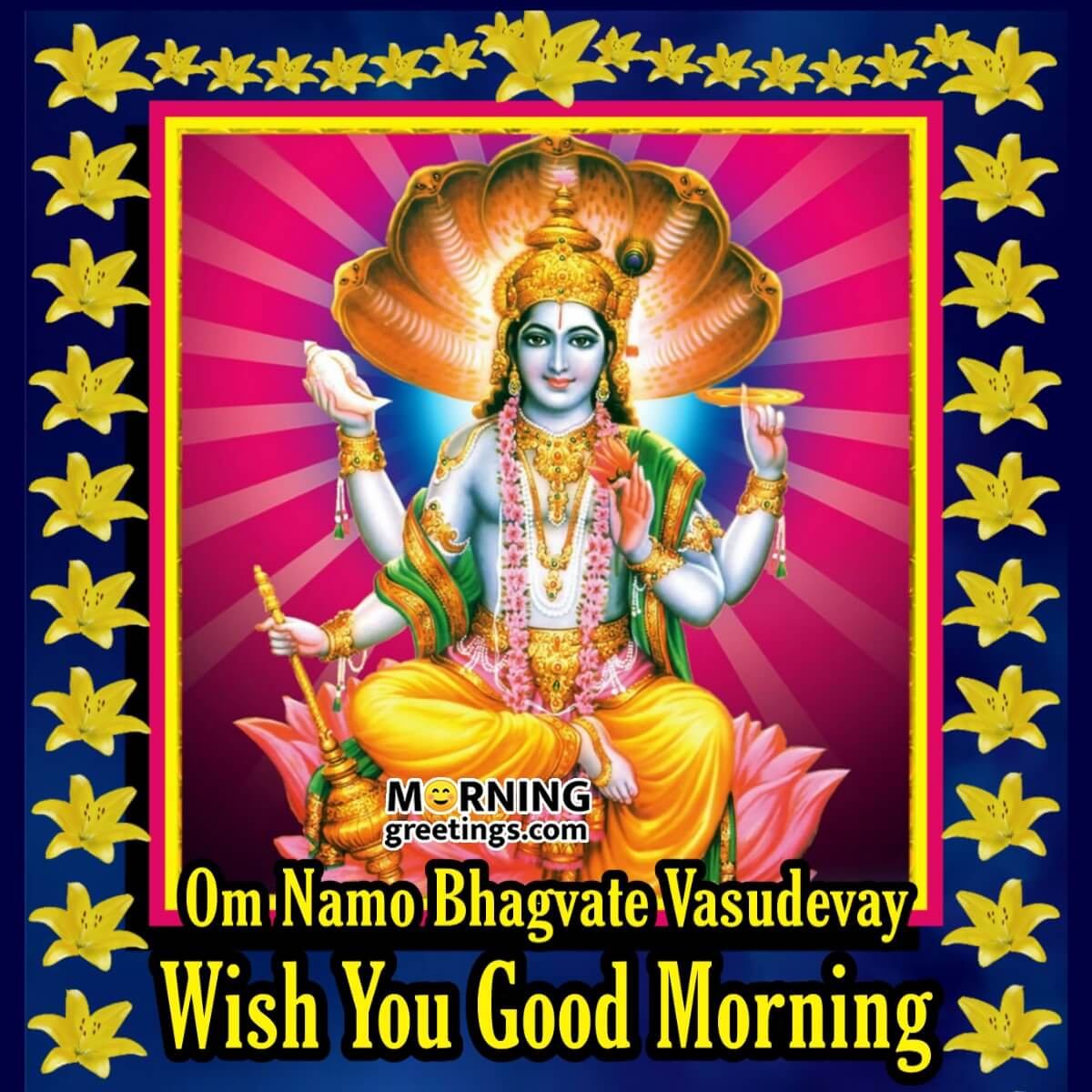 20 Morning Blessings Of Lord Vishnu Morning Greetings Morning Quotes And Wishes Images